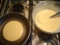 Cocinando los hotcakes