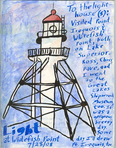 Whitefish Point journal page