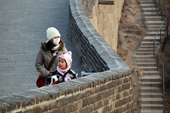Great Wall of China (pellephoto) Tags: china people wall stair tourist peking greatwallofchina chinise kinesiskamuren bejijng