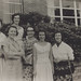 Newcastle University College Library staff - Gwen Tucker (later Rafferty), Juliet Donald (retired Medical Librarian, University of Sydney), Margaret Scott (later Engel), Pat Owen (HVRF), Barbara Payne (later Norcott) and Betty Lorenc - 1957
