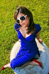 Rosaura (Daniel Driensky) Tags: portrait sun hot cute sexy girl sunglasses female canon eos glasses dallas pretty texas chica pic shades chick mexican 5d dfw hispanic latina
