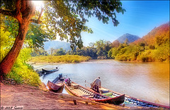 Morning On The River (iamguava - ) Tags: thailand thai guava maehongson maehongsorn 5photosaday kartpostal  anawesomeshot earthasia iamguava
