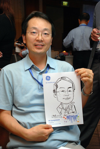 Caricature live sketching for GE Healthcare MI Symposium 5