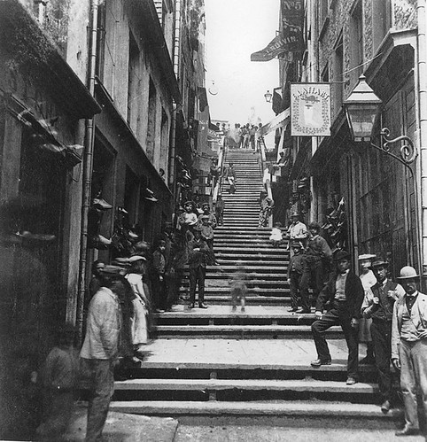 Breakneck Steps, Quebec City, QC, about 1870