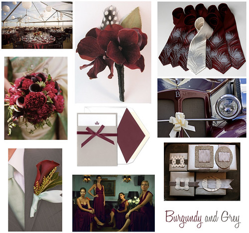 Wedding Wednesday: Burgundy, Maroon, Grey and Silver