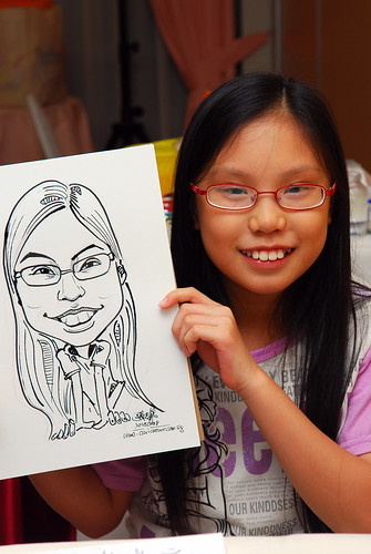 Caricature live sketching for birthday party 4
