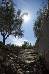 stairway to heaven? (Matt_1) Tags: sun hot graveyard silhouette europe cemetary athens greece heat aficionados kerameikos