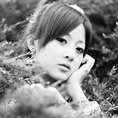 (swanky) Tags: portrait people blackandwhite bw woman cute girl beauty canon asian eos model asia pretty taiwan 85mm babe taipei   2008 shilin  taiwanese  30d   dcview  mikako  canonef85mmf18usm  mikako1984