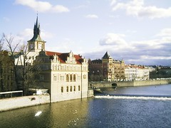 Prague View from Charles Bridge 1 (garnets1973) Tags: prague charlesriver clocktower