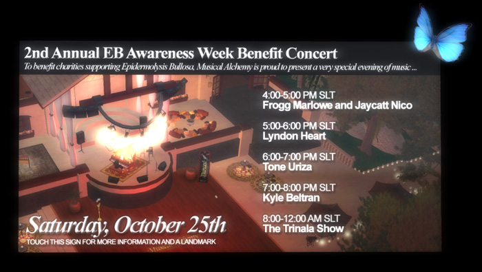 EB Awareness Week Benefit Concert Saturday Oct 25th