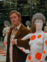 Madame, may I? (Benimoto) Tags: portrait art me museum pittsburgh factory infinity room installation mirrored mf dots artmuseum mattress yayoi kusama yayoikusama mattressfactory infinitydotsmirroredroom