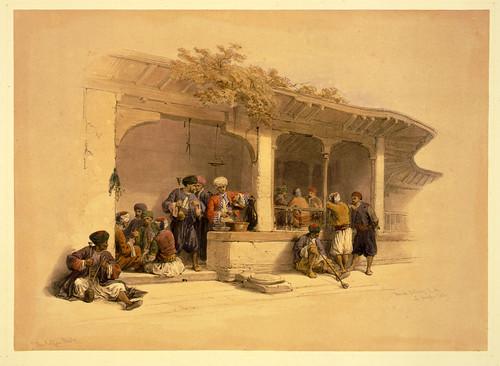 003- Cafe en el Cairo- David Roberts-1846-1849
