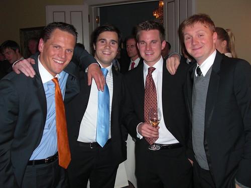 Christoph und Pascal (Absolventa), Hubertus (Mymuesli) und ich (team europe)
