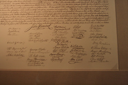 declaration of independence signatures. Signatures on Declaration of