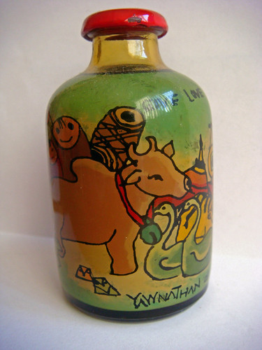 Myanmar Glass Handicraft Bottles, Handicraft Bottles