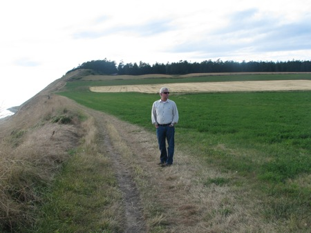 Farmer Bob at Ebey's Prairie in Coupeville