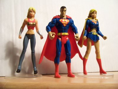 Wonder Girl, Superman & Supergirl