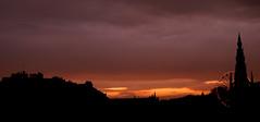 Edinburgh Sunset (Surely Not) Tags: sunset castle monument wheel skyline scott scotland nikon edinburgh d80 feris yourphototips