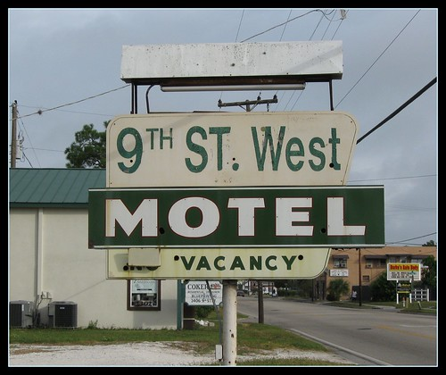 unretouched motel sign