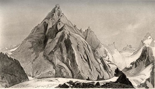The Aigiulle Blaitiere. c. 1856 by John Ruskin by you.