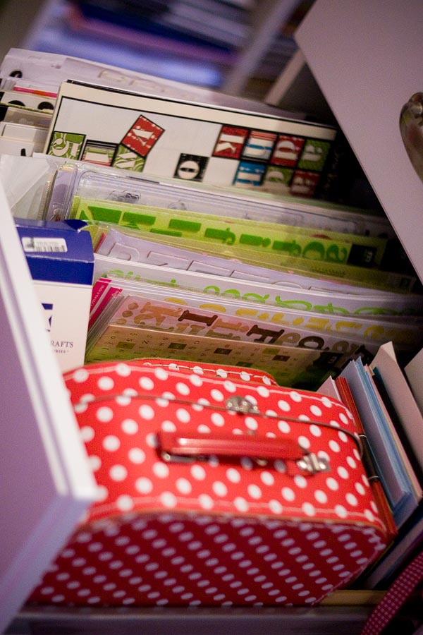 letter sticker storage