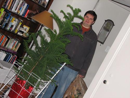 grant brings home a tree