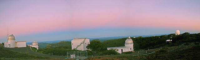 The shadow of the Earth over Siding Spring Observatory