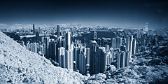 Panorama Infrared@Hong Kong (hk_traveller) Tags: panorama canon ir hongkong photo harbour peak victoria hong kong turbo filter infrared g1  canong1 r72 hongkongphotos turbophoto multimegashot
