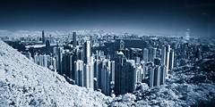 Panorama Infrared@Hong Kong (hk_traveller) Tags: panorama canon ir hongkong photo harbour peak victoria hong kong turbo filter infrared g1  canong1 r72 hongkongphotos turbophoto multimegashot