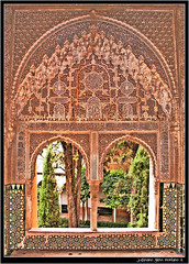 Arabesque Patterns of the Alhambra (j glenn montano 3) Tags: design spain glenn andalucia espana alhambra moorish granada moor montano islamic arabesque justiniano aplusphoto