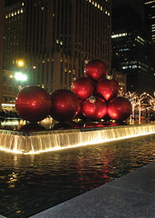 Giant Christmas Ornaments... (ccindigirard) Tags: shiningstar aclass christmasnyc bej impressedbeauty top20red