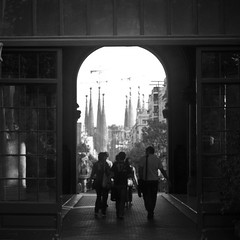 Barcelona, mi amor... (marin.tomic) Tags: barcelona city travel light urban bw spain europe mediterranean kodak bcn catalonia unesco explore espana spanish catalunya sagradafamilia spanien hospitaldesantpau katalonien vickycristinabarcelona