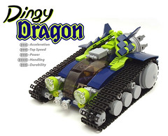 Dingy Dragon (peterlmorris) Tags: toy tank lego racer moc turbotank nnenn iattar