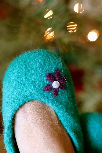 Felted ballet slippers