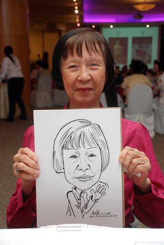 Caricature live sketching for Christ Methodist Church Christmas Celebration - 7