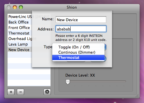 Shion 2 Alpha: Add New Device