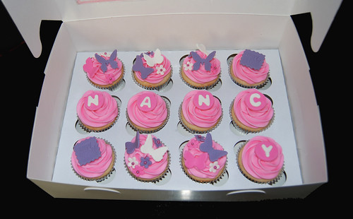purple birthday cupcakes,