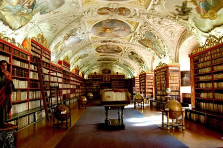 Strahov Monastery - Theological Library, Prague, Czechoslovakia