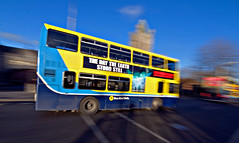 Still in motion (Sator Arepo) Tags: dublin motion bus wide olympus joyce publicity panning angular ultrawide zuiko christchurchcathedral dubliners e330 uro scudding 714mm