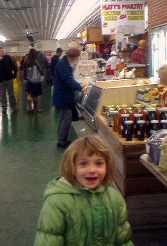 willow at the farmer's market