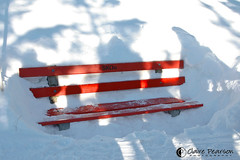 group shadows and a sunken bench (c {pp}) Tags: snow mountains alps kandersteg
