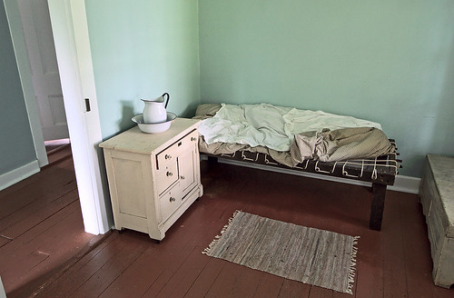 Old Saint Ferdinand Shrine, in Florissant, Missouri, USA - Convent bedroom