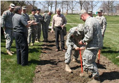 Foresters from the USDA Forest Service and Natural Resources Conservation Service, and Nebraska Forest Service helped prepare the Nebraska Air and Army Guard's Agriculture Development Team (ADT) for an 11-month deployment to Afghanistan.