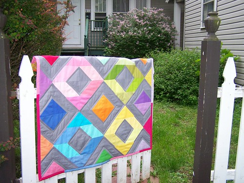 Rainbow Diamonds Mini Quilt Tutorial