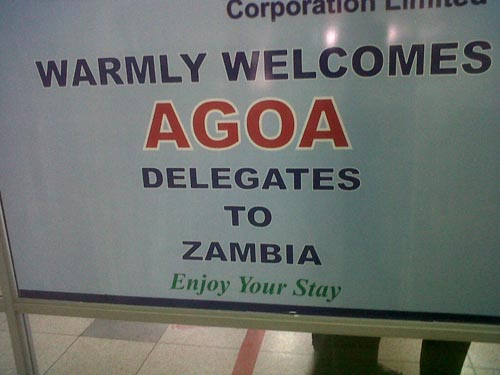 Welcome Sign for AGOA forum