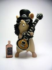 Slash Mouse from Guns 'n' Mouses (Quernus Crafts) Tags: slash guitar curlyhair gunsnroses axeman lespaulguitar saulhudson polymerclayquernuscraftscute