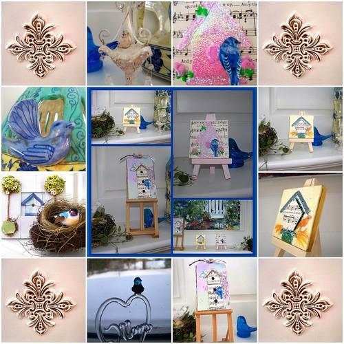 Bluebird and Birdhouse Celebration