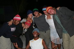 Staff Hugs (Blue Ventures) Tags: people black night happy volunteers hats conservation staff volunteer ngo notforprofit expeditions blueventures andavadoaka