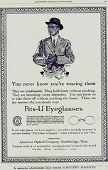 American Optical fits u 1913 ad formal man (pince_nez2008) Tags: nose glasses style eyeglasses eyewear eyeglass fashon pincenez noseclip noseeyeglasses
