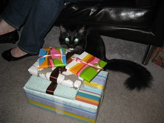Nigella thinks the gifts are for her. (02/09/2008)